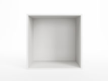 Isolated empty white box Stock Photos