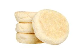 Isolated english muffins Stock Photos