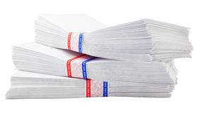Isolated envelope Royalty Free Stock Image