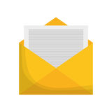 Isolated envelope design. Envelope icon. Emal mail message and letter theme. Isolated design. Vector illustration royalty free illustration