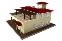 Isolated Estate 02. 3d render royalty free illustration