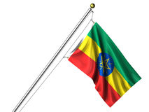 Isolated Ethiopian Flag Stock Image