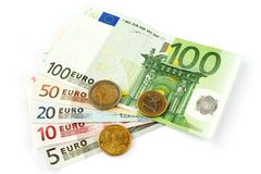 Isolated euro currency Royalty Free Stock Photo