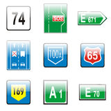 Isolated european road signs Royalty Free Stock Photography