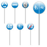 Isolated european road signs Stock Image