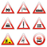 Isolated european road signs Royalty Free Stock Image