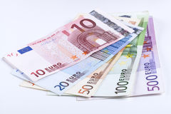 Isolated Euros Stock Image