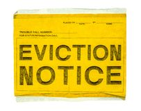 Isolated Eviction Notice Stock Photo