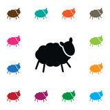 Isolated Ewe Icon. Sheep Vector Element Can Be Used For Sheep, Lamb, Ewe Design Concept. Royalty Free Stock Images