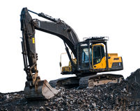 Isolated Excavator Or Digger Stock Photo