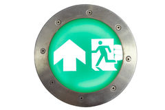 Isolated exit sign and light to emergency door Stock Photography