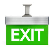 Isolated exit sign Stock Image