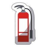 Isolated extinguisher of emergency design Royalty Free Stock Image