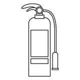 Isolated extinguisher of emergency design Stock Photo
