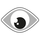 Isolated eye of security design Royalty Free Stock Photo
