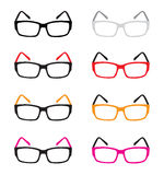 Isolated eyes glasses, colorful eyes glasses, eyes glasses vector Royalty Free Stock Images