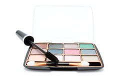 Isolated eyeshadow and mascara Royalty Free Stock Photos