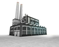 Isolated factory as industrial production engine Stock Photo