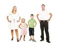 Isolated Family Royalty Free Stock Photo