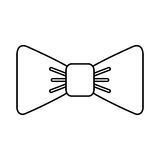 Isolated fancy bowtie. Vector illustration graphic design Royalty Free Stock Photo