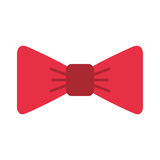 Isolated fancy bowtie. Vector illustration graphic design Royalty Free Stock Images