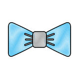 Isolated fancy bowtie. Vector illustration graphic design Stock Images