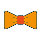 Isolated fancy bowtie. Vector illustration graphic design Stock Photography