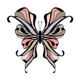 Isolated fantasy butterfly background Royalty Free Stock Images