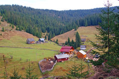 Isolated farm house in mountain royalty free stock photography