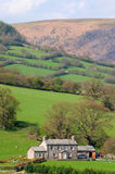 Isolated farmhouse. Farmhouse on a Welsh hillside Royalty Free Stock Photography