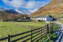 An isolated farmhouse at the head of Langdale Royalty Free Stock Photography