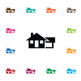 Isolated Farmhouse Icon. Ranch Vector Element Can Be Used For Farmhouse, Ranch, House Design Concept. Ranch Vector Element Can Be Used For Farmhouse, Ranch Stock Image