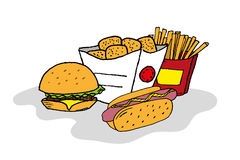 Isolated fast food Royalty Free Stock Images
