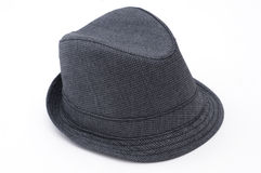 Isolated Fedora. Against White Background with Pattern Royalty Free Stock Image