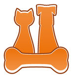 Isolated feed symbol for pet Royalty Free Stock Image