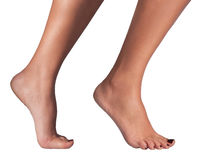 Isolated Female Foot. Isolated photo of healthy female foot, ankle and leg Royalty Free Stock Image