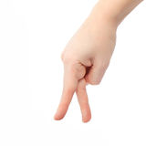 Isolated female hand goes to fingers Royalty Free Stock Photo