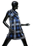 Isolated female mannequin. Isolated beautiful black female dressed mannequin dummy Stock Image
