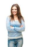 Isolated female portrait Stock Image