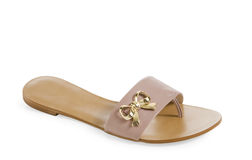 Isolated  female sandal Royalty Free Stock Photos