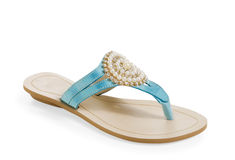 Isolated  female sandal Stock Image