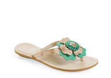 Isolated  female sandal Royalty Free Stock Images