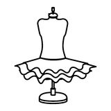 Isolated female skirt design Royalty Free Stock Photo