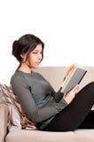 Isolated Female Student Studying royalty free stock image
