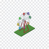 Isolated Ferris Wheel Isometric. Recreation Vector Element Can Be Used For Ferris, Wheel, Attraction Design Concept. Recreation Vector Element Can Be Used For Stock Images