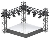 Isolated festival stage for musical performance Royalty Free Stock Photography