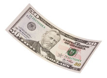 Isolated Fifty Dollar Bill Stock Images