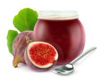 Isolated fig jam Royalty Free Stock Image