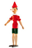 Isolated figure of wood pinocchio. View of isolated figure of wood pinocchio Stock Photos