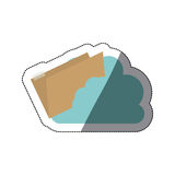 Isolated file and cloud design. File and cloud icon. Folder document data archive and storage theme. Isolated design. Vector illustration Stock Photo
